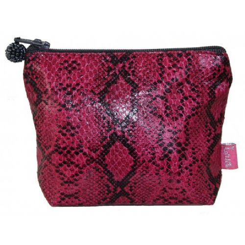 Lua Designs Snakeskin Mini Coin Purse in Pink